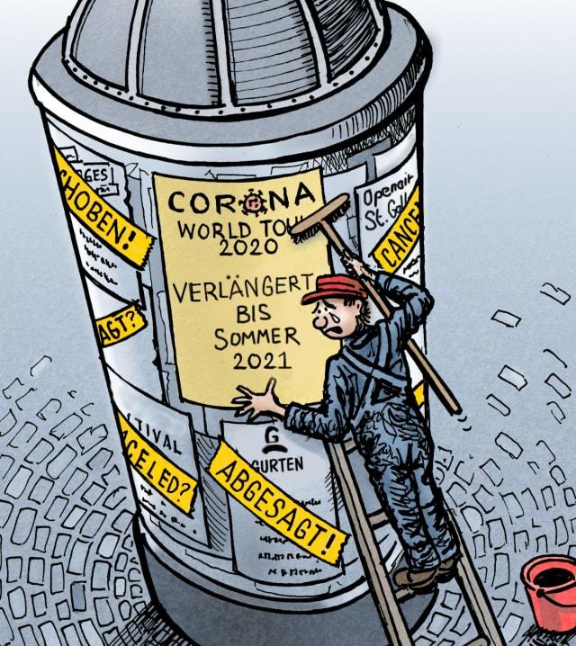 Die Welttournee von «Corona & The Mutants» geht vorerst weiter - während Gurtenfestival und OpenAir St. Gallen nun auf 2022 hoffen.