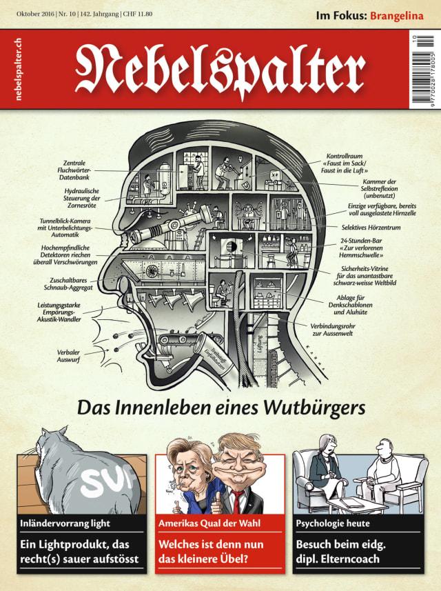 Preisgekröntes Cover wurde 2016 zur Schweizer Karikatur des Jahres gewählt