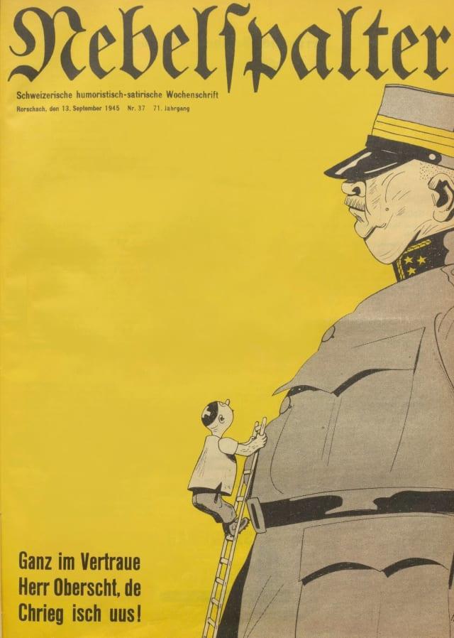 Berühmtes «De Chrieg isch us»-Titelbild von Bö