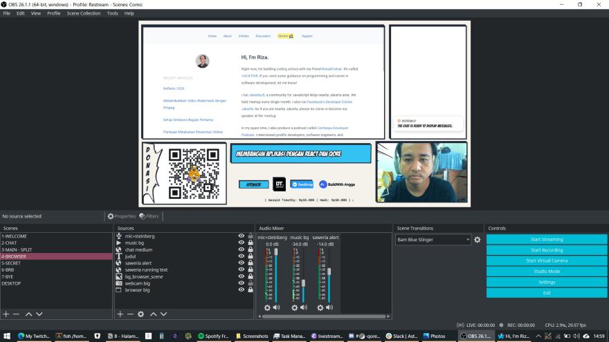 Tampilan layar Browser