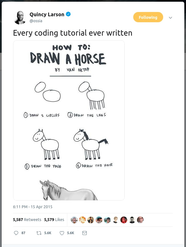 draw a horse quincy tweet