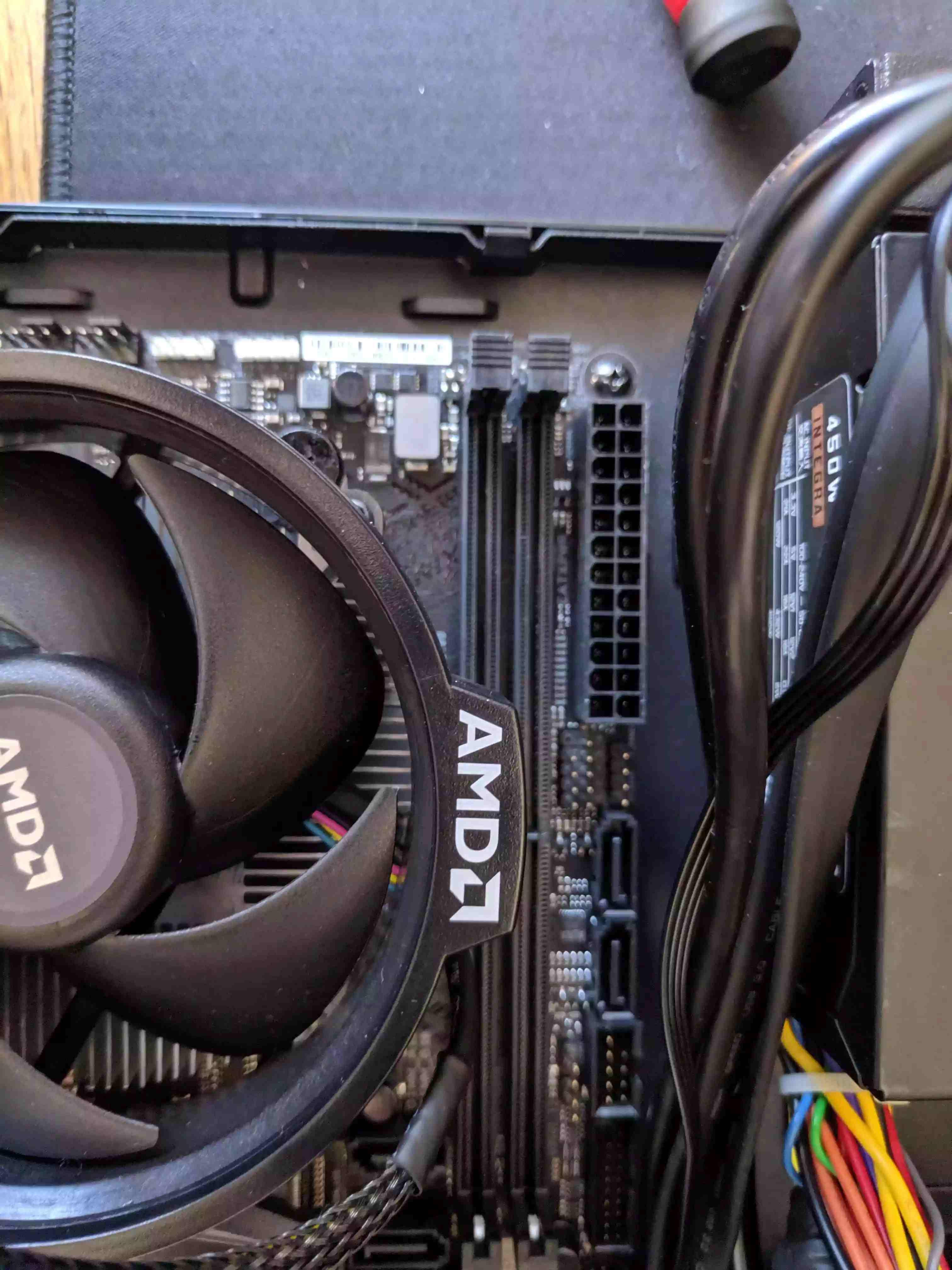 fan covering memory slots