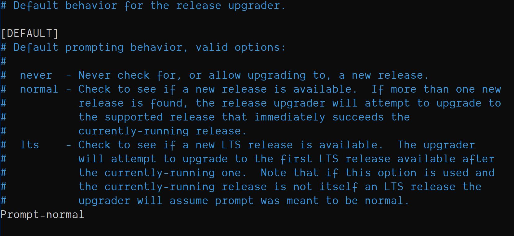 default release ugrader