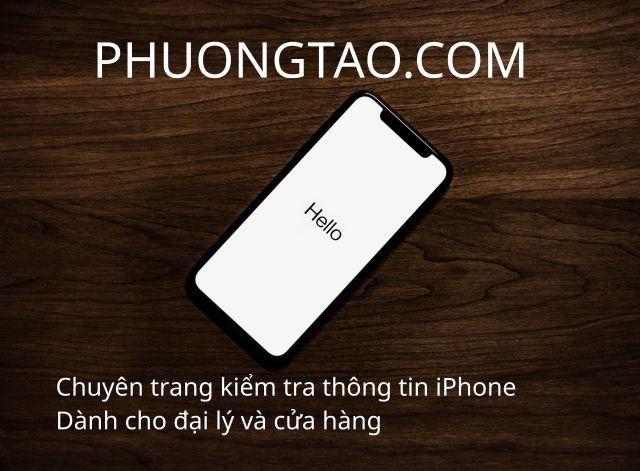 Chuyên trang kiểm tra nhà mạng - PhuongTao.Com