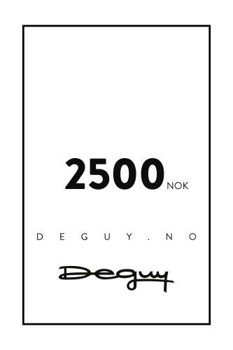 GAVEKORT 2500