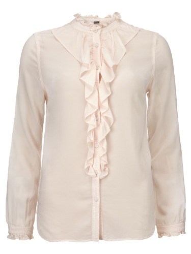 STRETCH FRILL SHIRT