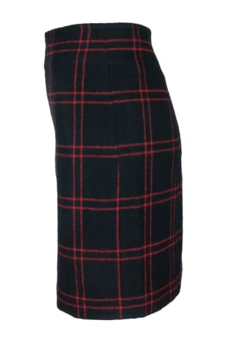 Black Red Chech Skirt