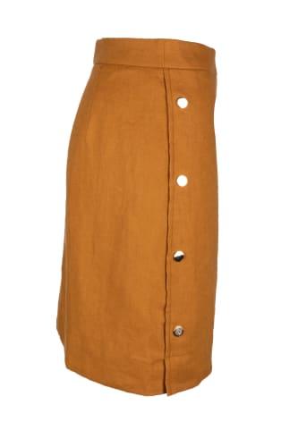 Button Lin Skirt