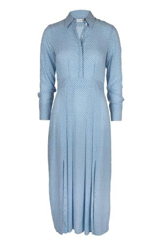 Lt Blue Dot Dress