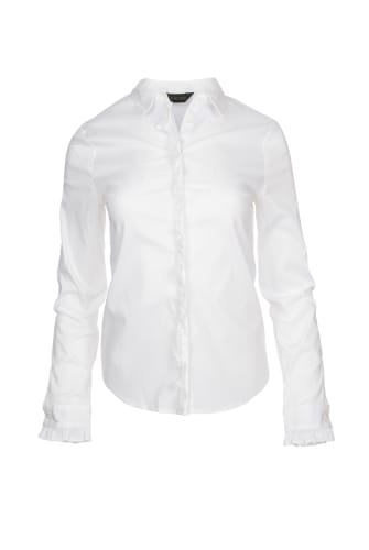 RUFFLE STRETCH SHIRT
