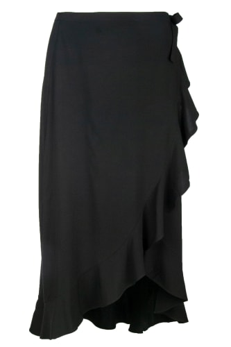WRAP BLACK SKIRT