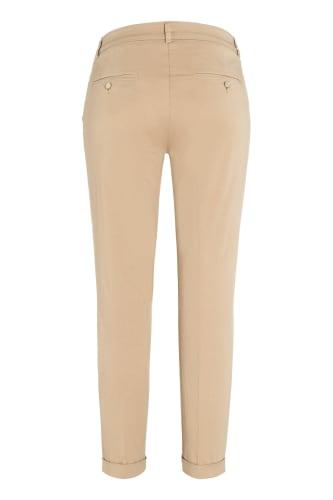 Kvinner Bomull Ren farge Løse sidelommer Elastiske midje bukser bukser
