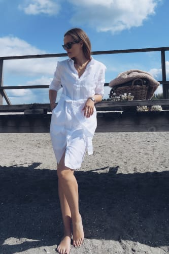 Linnen Shirt Dress