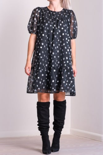 Isolde Silver Dot Dress