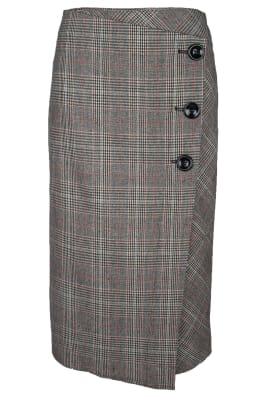 Long Button Skirt