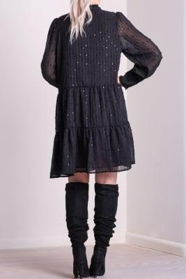 Isolde Silver Dot Dress