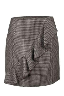 Check Wave Skirt