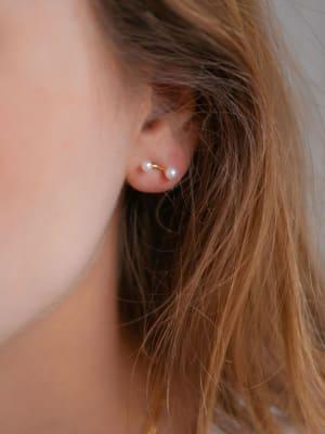 Earring 2 Pearls