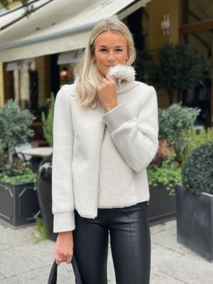 Fur-Wool Mix Jacket