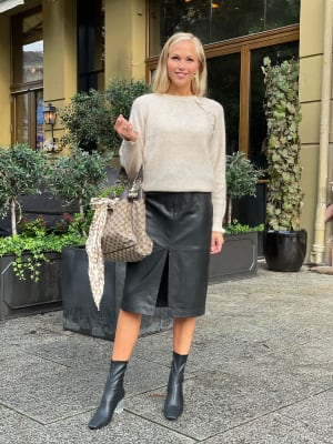 Nuk Leather Skirt