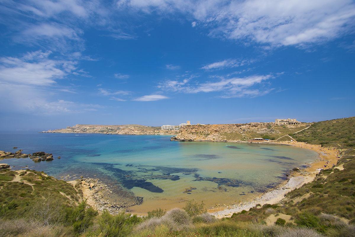 Vista di Għajn Tuffieħa, spiagge di Malta
