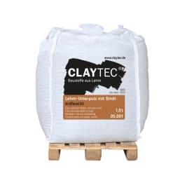 CLAYTEC Lehm-Unterputz grob mit Stroh ERDFEUCHT 1000 kg