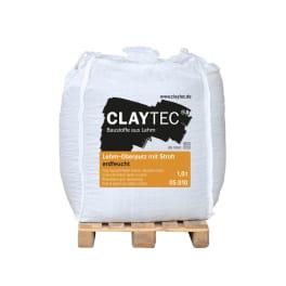 CLAYTEC Lehm-Oberputz grob mit Stroh ERDFEUCHT 1000 kg