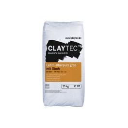 CLAYTEC Lehm-Oberputz grob mit Stroh TROCKEN 25 kg