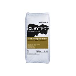 CLAYTEC Lehm-Oberputz fein 06 TROCKEN 25 kg