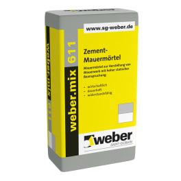 weber.mix 611 Zement-Mauermörtel eine Palette 40 kg Säcke