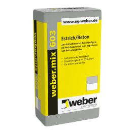 weber.mix 603 Estrich/Beton eine Palette 25 kg Säcke