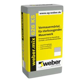 weber.mix 626 KS Vormauermörtel, für normal- und starksaugendes Mauerwerk eine Palette dunkelgrau