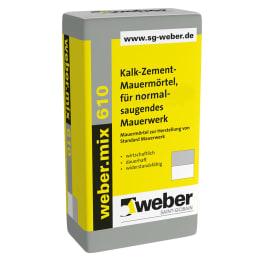 weber.mix 610 Kalk-Zement-Mauermörtel für Standard-Mauerwerk eine Palette 40 kg Säcke