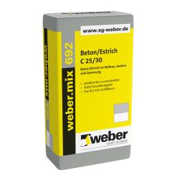 weber.mix 692, C25/30-8mm Beton/Estrich eine Palette 40 kg Säcke