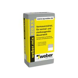 weber.mix 626 KS Vormauermörtel, für normal- und starksaugendes Mauerwerk eine Palette silbergrau
