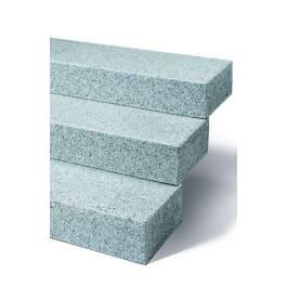 Seltra Granit Blockstufen BRAVO EXACTA -geflammt-, 15x35x80cm edelgrau