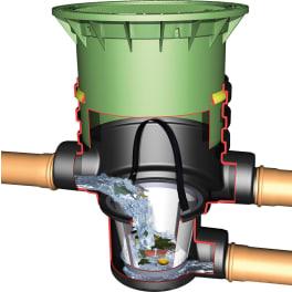 Universal-Filter 3 Extern begehbar mit Teleskop und Deckel grün