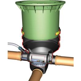 Minimax-Filter Extern, begehbar mit Teleskop und Deckel grün