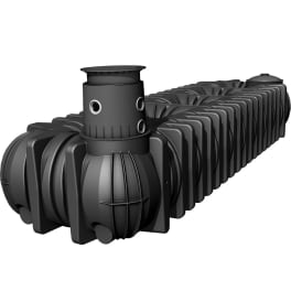 PLATIN XL Flachtank schwarz, inkl. EBA