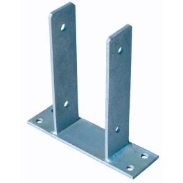 T&J Pfostenträger zum Aufschrauben 9 x 9 cm feuerverzinkt, für Pfosten 9 x 9 cm mit seitl. Lasche