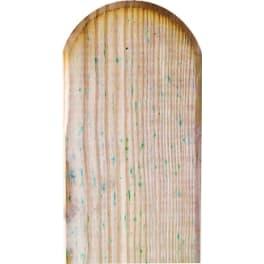 T&J Zaunlatte für Gartenzäune MARIO  30 x 90 x 1000 mm Kopf gerundet, glatt