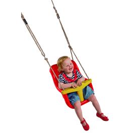 T&J Babyschaukel GIANT Kunststoff rot  Seillänge ca. 250 cm