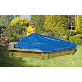T&J Folien-Abdeckung für Sandkasten BENNY  Ø 230 cm, PE-Gewebe 160g/m², mit Gummizug