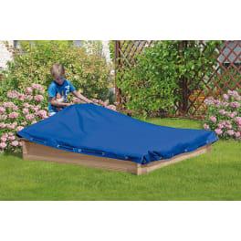 T&J Abdeckplane für Sandkasten CONNI 150 x 150 PE-Gewebe 160 g/m² blau, mit elastischer Kordel