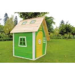 T&J FRANZI-Kinderspielhaus  125 x 130 x 158 cm Fichte, teilw. farbig behandelt >>> 3 KARTONS <<<