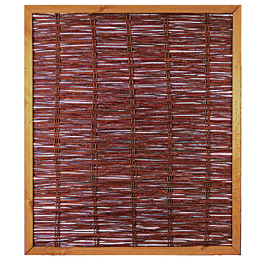 T&J FAKO Weidengeflechtzaun mit umlauf. Rahmen 120 x 140 cm