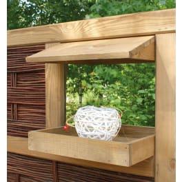 T&J LABO-3D Vogelhaus 36 x 36 x 6 (+7,5) cm 2 teilig, Ablage und Dach