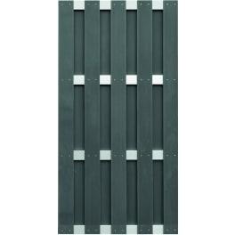 T&J JINAN-Serie anthrazit 90 x 180 cm, WPC-Bretterzaun Querriegel ALU anodisiert