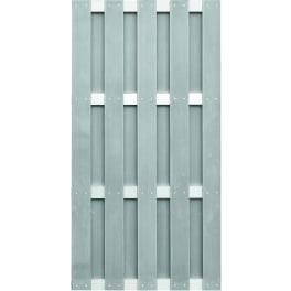 T&J JINAN-Serie grau 90 x 180 cm, WPC-Bretterzaun Querriegel ALU anodisiert