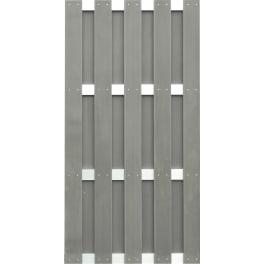 T&J JINAN-Serie braun 90 x 180 cm, WPC-Bretterzaun Querriegel ALU anodisiert